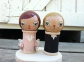 Matt and Annie cake topper by Dolls of Cuteness