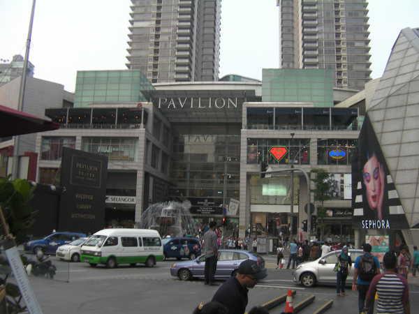 巨大ショッピングセンターのパビリオン