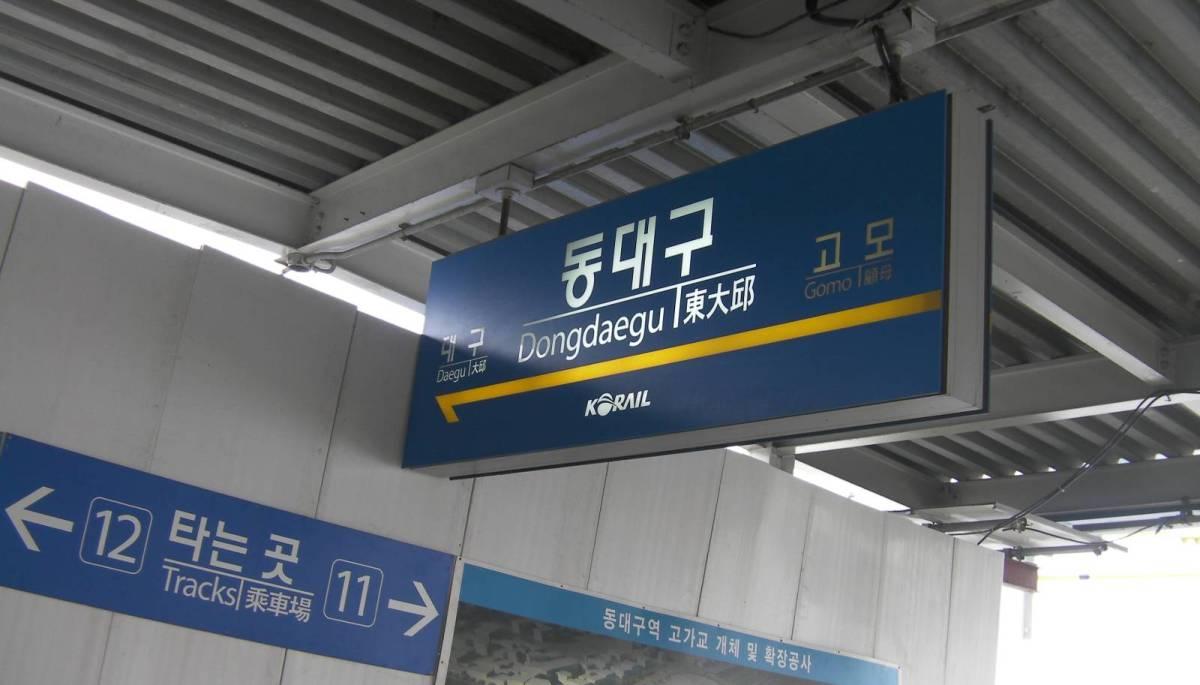 釜山駅からKTXで東大邱、帰りは高速バスで金海国際空港へ