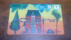 8年前にソウルで購入したT-Moneyカードを使う