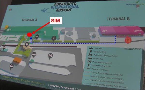 SIM屋さんはターミナルAにある