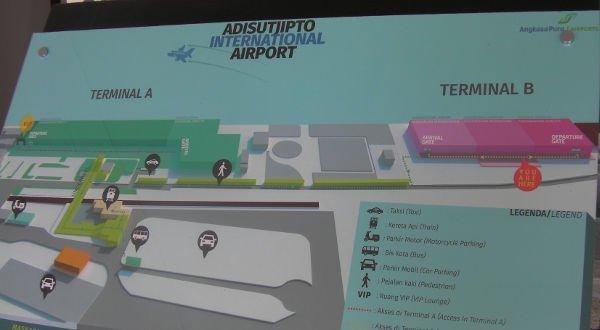 ターミナルBからターミナルAに移動しました