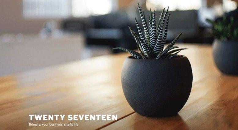 ここをテーマTwenty Seventeenにしてのカスタマイズ一覧
