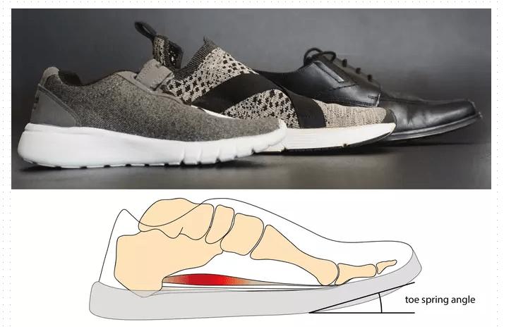 влияние на стопу обуви с поднятым носком