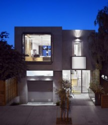 Llamativa fachada de casa moderna y pequeña Fachadas de Casas Fotos de Casas