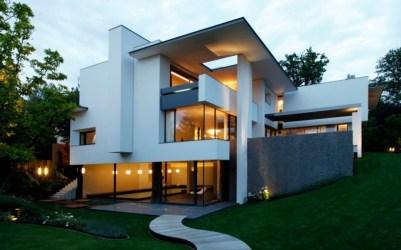 Fabulosa fachada de casa moderna en Alemania Fachadas de Casas Fotos de Casas