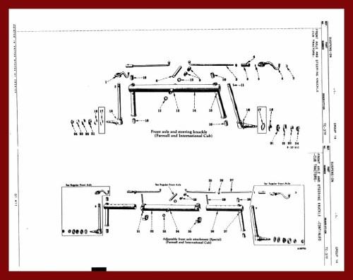 small resolution of farmall cub front axle diagram