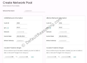 VCF 3.0 Network pool 02