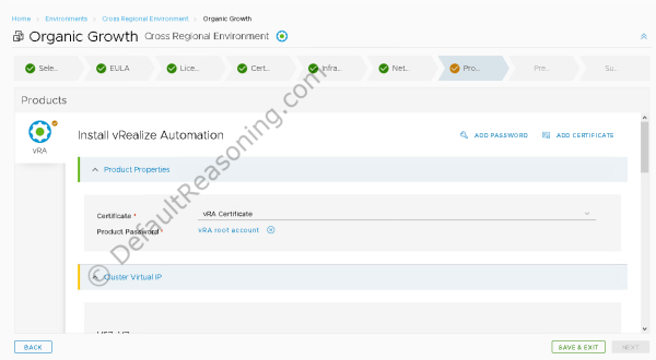 automated deployment of vRealize Suite in VCF 4.1 - Add vRA config