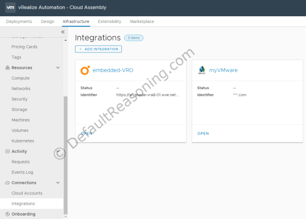 automated deployment of vRealize Suite in VCF 4.1 - vRA integration