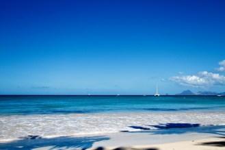 Mer, bleu, Grande anse des Salines, Martinique, paysages