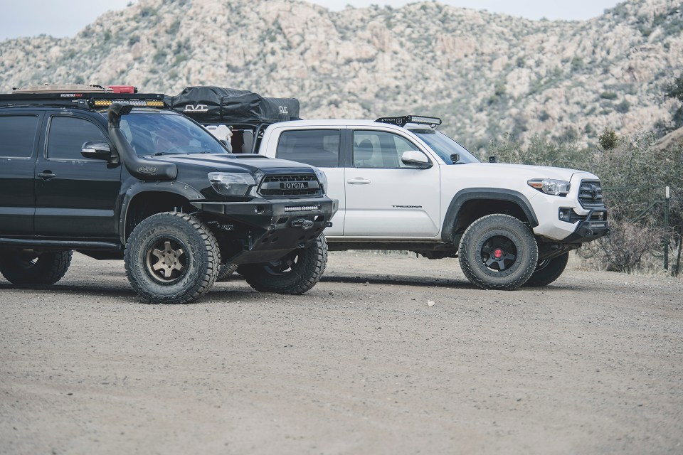 Rotiform SIX-OR defconbrix on some adventure toyota tacoma