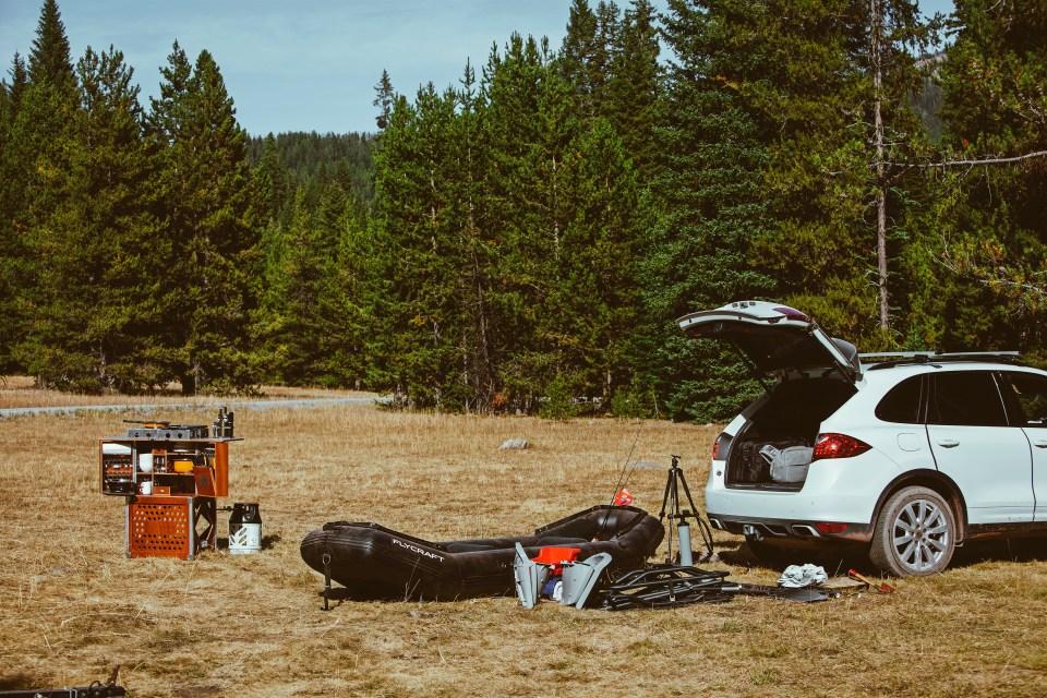 Oregon Road Trip Brixton Porsche Cayenne FlyCraft CampChamp