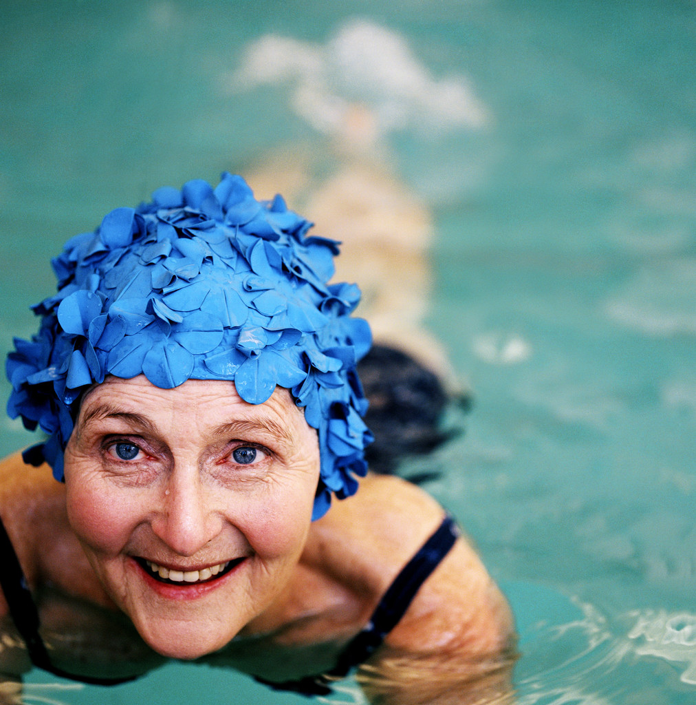 Image result for old woman swimming