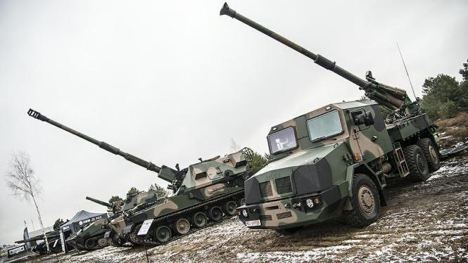 A Ukrainian Weapons System Installed On A British Saxon Military Armored Personnel Carrier During Presentation