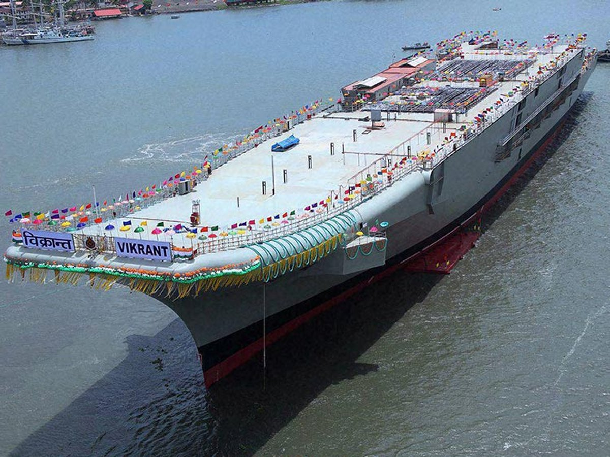 India's aircraft carrier INS Vikrant raises hackles in China ...