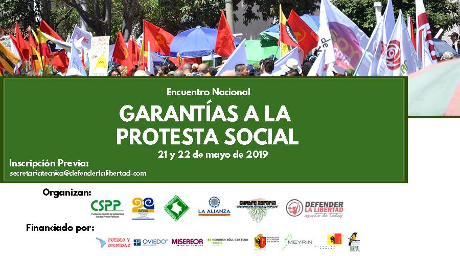 Encuentro nacional por el derecho a la protesta social