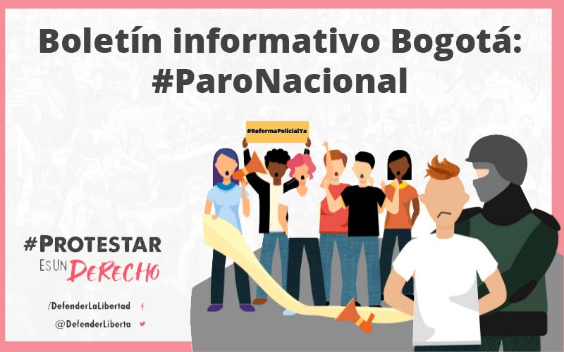 BOLETÍN INFORMATIVO BOGOTÁ: #PARONACIONAL