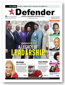 March 22, 2018 Houston Defender