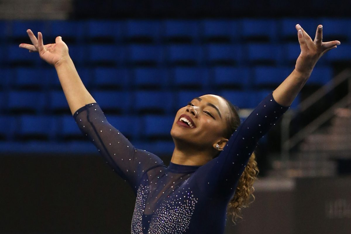 Another UCLA gymnast, Margzetta Frazier, has Janet Jackson routine go viral
