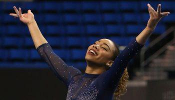 Another UCLA gymnast, Margzetta Frazier, has Janet Jackson routine go viral