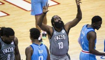 James Harden has triple-double in Houston return, Nets roll