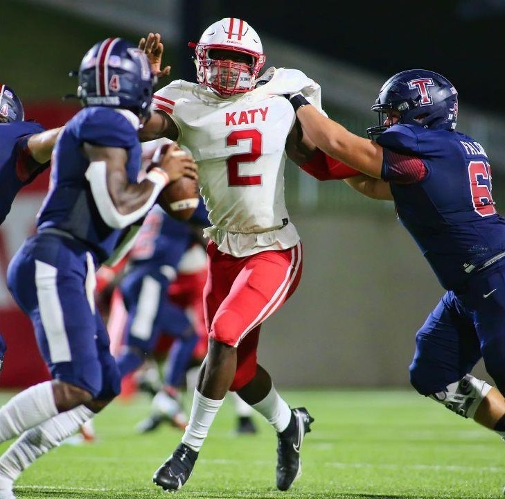Katy defensive end and Texas A&M commit Malick Sylla's got next