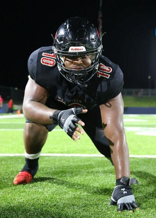 Westfield defensive lineman A.J. Holmes is on the way