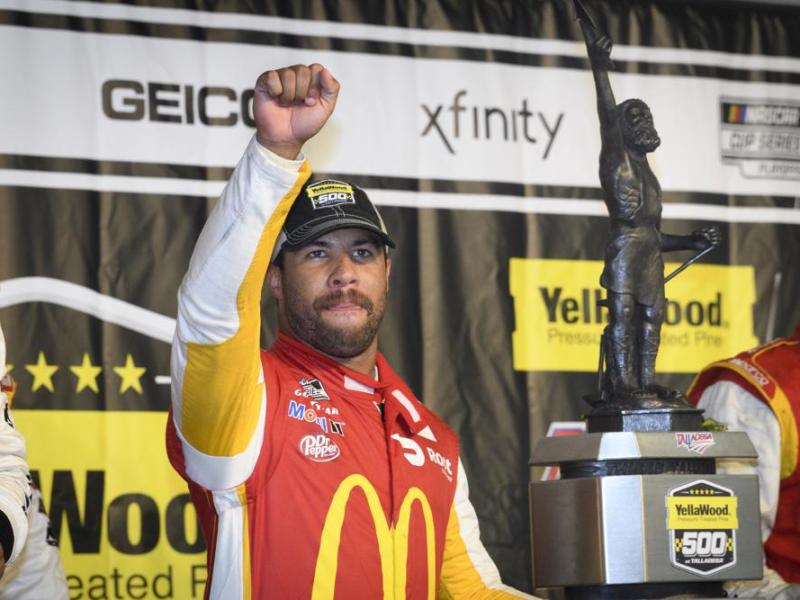 Milestone for Bubba Wallace as he earns 1st NASCAR Cup Series victory
