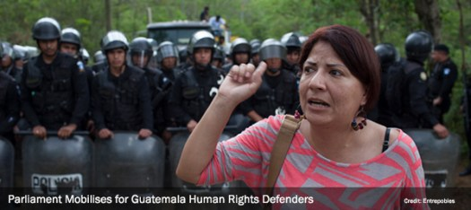 Parliament Mobilises for Guatemala Human Rights Defenders