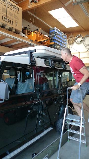 Setting up the Rooftop Tent