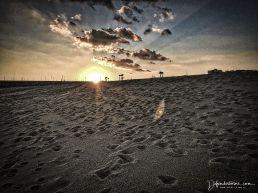 Sundown on the beach