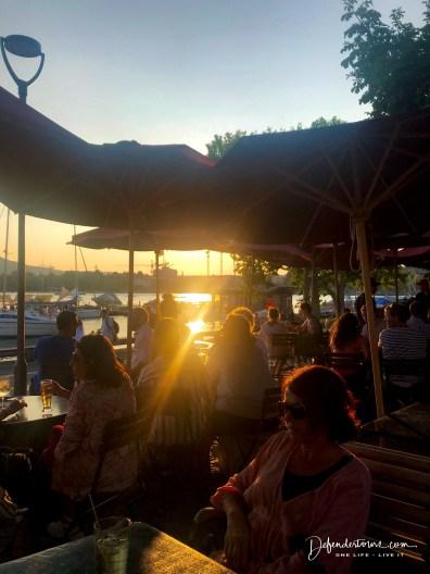 at lake Zurich
