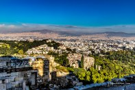 Athens seen from Pantheon