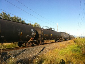 Oil tankers along Highway 20