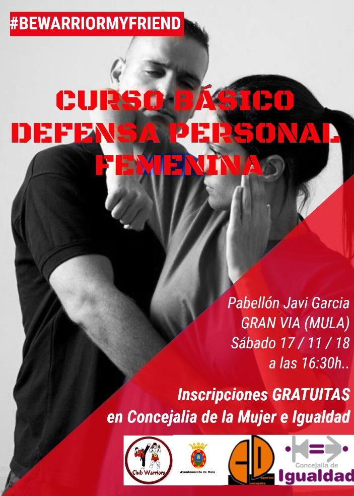 Curso básico gratuito defensa personal femenina en Mula | Yawara-Jitsu
