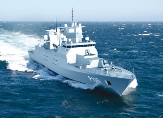 F125 class frigate for the german Navy