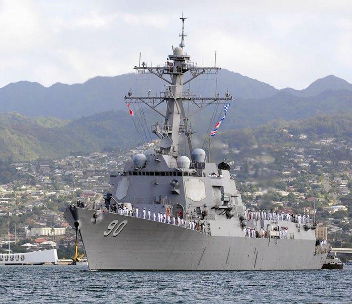 USS Chafee DDG 90 in Hawaii