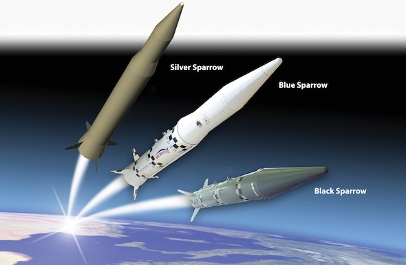 The Blue Sparrow 2 target missile was employed in today's test. Rafael is also developing the heavier (+3 ton) Silver Arrow target, designed for long-range exo-atmospheric intercept testing. Photo: Rafael