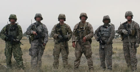 multicam camouflage pattern selected