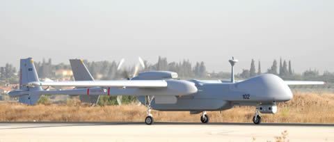 IAI Heron TP preparing for take off from Ben Gurion Airport, 2011. Photo: IAI