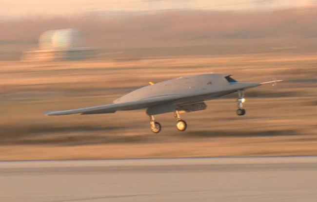 nEURON takes off on its first flight from Isters, December 1, 2012. Photo: video via Dassault Aviation
