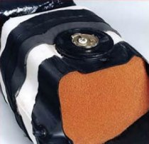 Safetank, an explosion-proof self sealing fuel tank for vehicles from Rodgard uses self-sealing and insulating foam and flame retardant coating to protect the tank from explosion under fire.