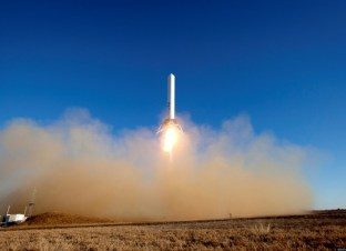 SpaceX's Grasshopper Rocket Takes Off