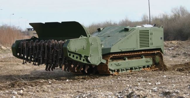 The larger MV-10 is designed to destroy anti-personnel and anti-tank mines. Photo: DOK-ING