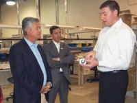 Dr. Caine Finnerty, president of Watt Fuel Cell, explains the SOFC technology to Senator Jack M. Martins and Senator Dean Skelos during their visit to WATT in 2011.