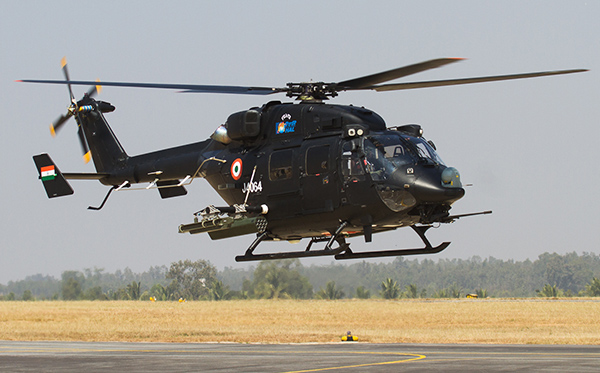The attack version of indigenously-built Advanced Light Helicopter (ALH) 'Rudra'. Credit: Angad Singh