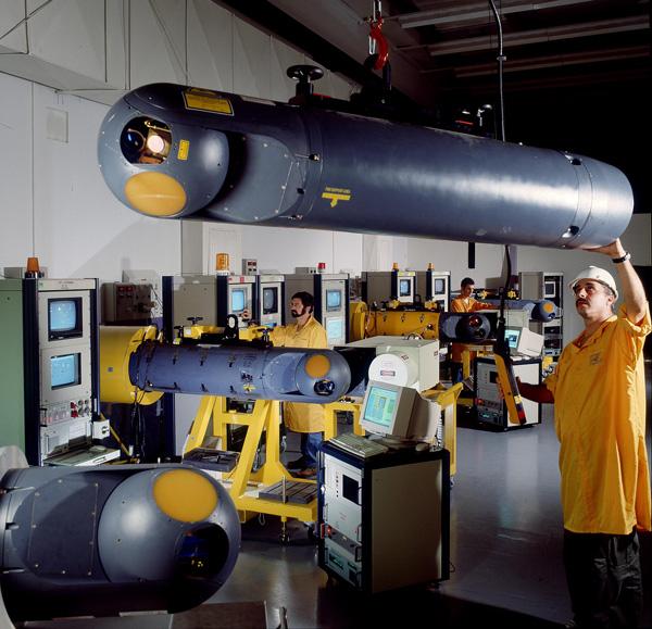 Rafael Litening targeting pod production. Photo: Rafael