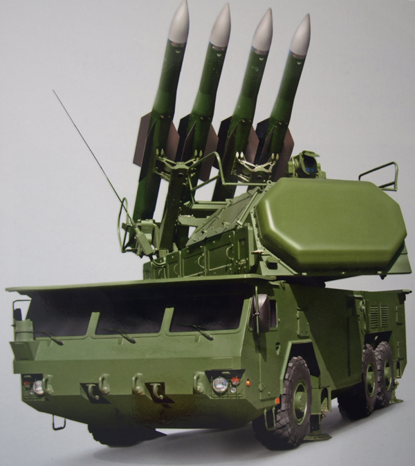 SA-17 BUK-M2E air defense missile system. Note the EO/IR camera above the main radar, providing the system continuity of engagement even under heavy electronic attack. Photo: Tamir Eshel, Defense-Update