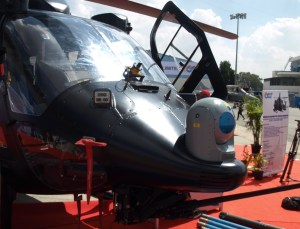 The COMPAS stabilized multi-sensor payload from Elbit Systems provides the eyes for the helicopter's weapons. Photo: Tamir Eshel, Defense Update